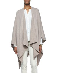 Eileen Fisher Cozy Luxe Wool Poncho Cardigan Petite Brown