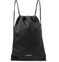 Balenciaga Explorer Canvas Drawstring Backpack Black