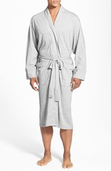 Men's Daniel Buchler Peruvian Pima Cotton Robe Grey Heather