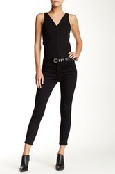 Level 99 Tanya High Rise Crop Ultra Skinny Jean Black