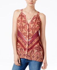 Sanctuary Sleeveless Printed Top Sunset Boho