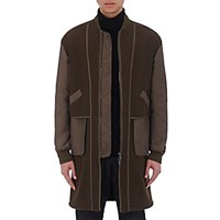Helmut Lang Men's Inside Out Long Bomber Jacket Green
