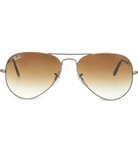 Ray Ban Gunmetal Aviator Sunglasses With Gradient Lenses Rb3025 55