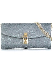 Dolce And Gabbana 'Dolce' Clutch Grey