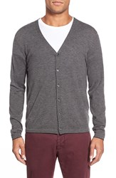 Zachary Prell 'Blackfriars' Wool Blend Stripe Cardigan Charcoal