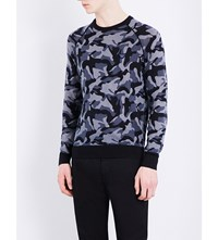 Armani Jeans Camouflage Print Knitted Jumper