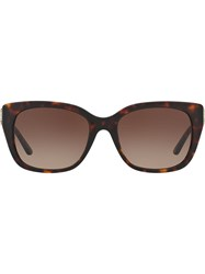 Tory Burch Square Frame Sunglasses Brown