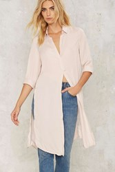Syd Embroidered Maxi Shirt Pink