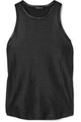 Koral Aerate Satin Trimmed Stretch Mesh Tank Black