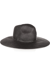 Madewell Leather Trimmed Straw Fedora