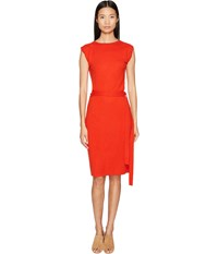 Cashmere In Love Colette Wrapped Envelope Dress Poppy Red