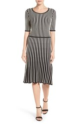 Halogenr Women's Halogen Stripe Fit And Flare Sweater Dress