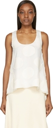 Chloe Milk White Polka Dot Trapeze Tank Top
