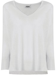 Max And Moi Fine Knit Slouchy Jumper Grey