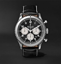 Breitling Navitimer 8 B01 Chronograph 43Mm Stainless Steel And Alligator Watch Black