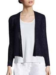 Eileen Fisher Open Front Melange Knit Cardigan Midnight
