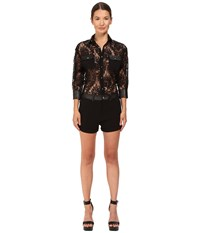 Philipp Plein Lace Romper Black Women's Jumpsuit And Rompers One Piece