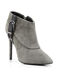 Charles David Booties Valle Buckle High Heel Dark Grey