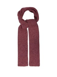 Gabriela Hearst Ribbed Knit Donegal Cashmere Scarf Light Pink