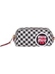 Miu Miu Vichy Check Faille Make Up Bag Black
