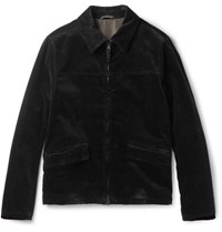 Aspesi Cotton Corduroy Jacket Back Black