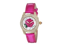 Betsey Johnson Bj00193 10 Crystal Bezel Gold Pink Watches