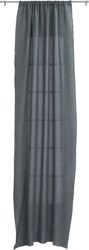 Cb2 French Belgian Graphite Linen Curtain Panel 48''X120'