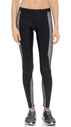 Blue Life Fishnet Contrast Moto Leggings Black