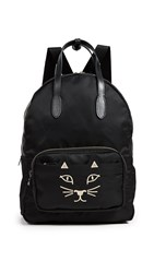 Charlotte Olympia Purrrfect Backpack Black