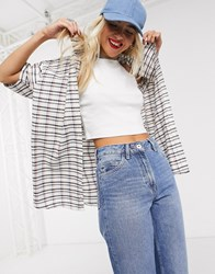 Milk It Vintage Oversize Check Dad Shirt Multi