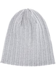 Estnation Ribbed Beanie Men Cotton One Size Grey