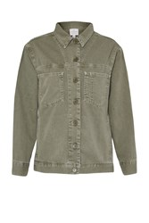 French Connection Perret Utility Cotton Jacket Green