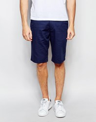 Farah Smart Shorts In Honeycomb Cotton Navy
