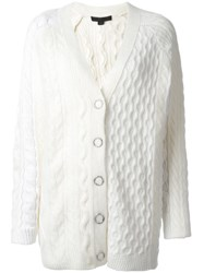 Alexander Wang Chunky Knit Cardigan White