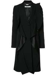 Givenchy Ruffled Coat Black