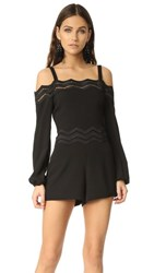 Ramy Brook Natalie Romper Black With Black Lace