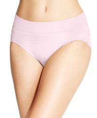 Warner's No Pinches No Problems Striped High Cut Brief Rt5501p Pale Pink