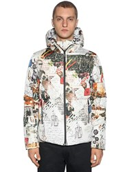 Fendi Reversible Karl Printed Down Jacket Multicolor
