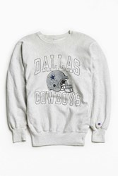 Urban Outfitters Vintage Champion Cowboys Crew Neck Sweatshirt Grey