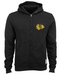 Retro Brand Men's Chicago Blackhawks Primary Full Zip Hoodie