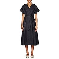 Martin Grant Belted Denim Shirtdress Navy