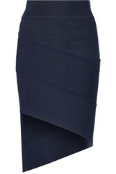 Opening Ceremony Asymmetric Stretch Knit Mini Skirt Midnight Blue