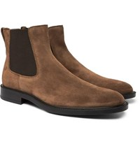 Tod's Suede Chelsea Boots Brown