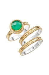 Women's Anna Beck Semiprecious Stone Stackable Rings Set Of 3