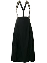 Jean Paul Gaultier Vintage Suspenders Pleated Skirt Black