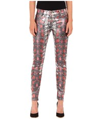 Just Cavalli Shiny Snake Print Skinny Denim Black Variant