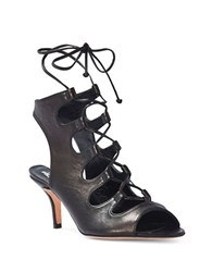 Delman Tanna Crisscross Sandals Black