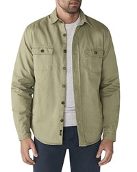 Faherty Blanket Lined Overshirt Olive