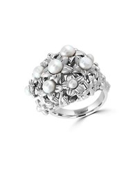 Effy 2.5 4.5Mm White Pearl And Sterling Silver Ring