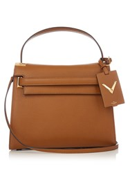 Valentino My Rockstud Medium Leather Tote Tan